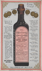 Advert For Branson's Coffee Extract